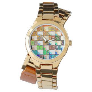 Relógio gráfico dos azulejos do Mah Jongg