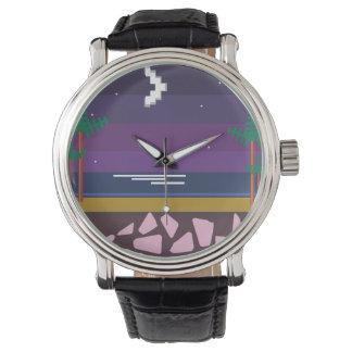Relógio Gráfico retro do jogo de vídeo dos anos 80