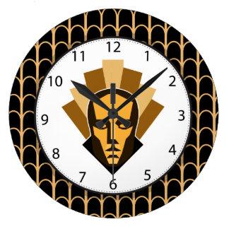 Relógio Grande 1920 que ruje a crista da estátua do estilo dos