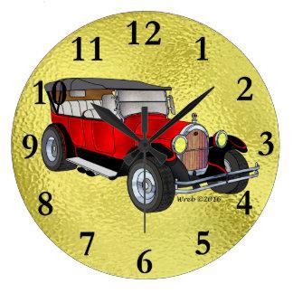 Relógio Grande 1923 velhos que visitam, vermelho -