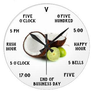 Relógio Grande 5 horas em algum lugar cronometram