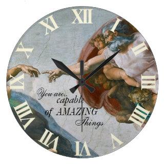 Relógio Grande A criação de Adam pelo pulso de disparo de parede