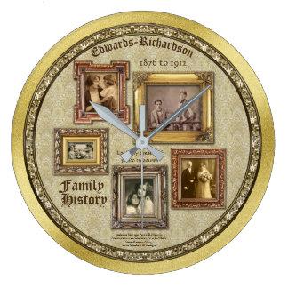Relógio Grande A foto da antiguidade dos antecedentes familiares