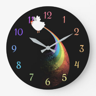 Relógio Grande A galinha do arco-íris Farts pulso de disparo