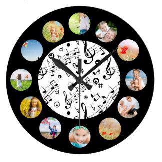 Relógio Grande A música nota a colagem da foto do teste padrão