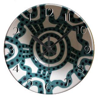 Relógio Grande A turquesa peruana da bacia cronometra para trás