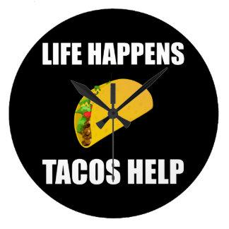Relógio Grande A vida acontece ajuda do Tacos