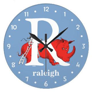 Relógio Grande ABC do Dr. Seuss: Letra R - O branco | adiciona