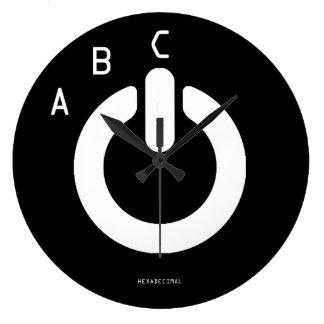 Relógio Grande ABC dos HEXADECIMALS