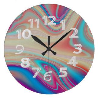 Relógio Grande Abstrato colorido