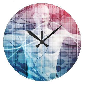 Relógio Grande Abstrato da tecnologia avançada e da ciência