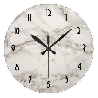 Relógio Grande Abstrato de mármore de Tan do Taupe do alabastro