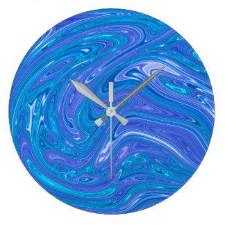 Relógio Grande Abstrato do verão - pulso de disparo de parede