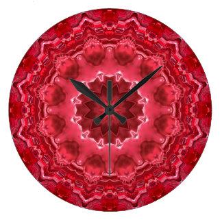 Relógio Grande Abstrato, mandala, caleidoscópio