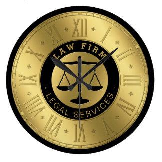 Relógio Grande Advogado em escalas do ouro da lei | de justiça