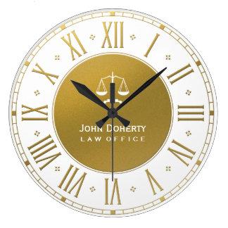 Relógio Grande Advogado no ouro elegante & no branco da lei |