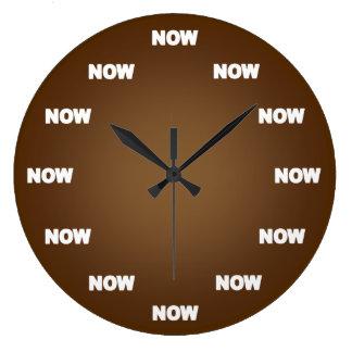 Relógio Grande Agora pulso de disparo (Brown)