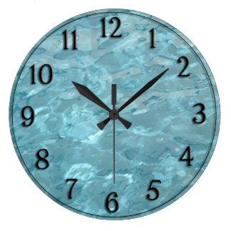 Relógio Grande Água da piscina - abstrato do divertimento do