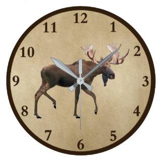 Relógio Grande Alces de Bull no pergaminho