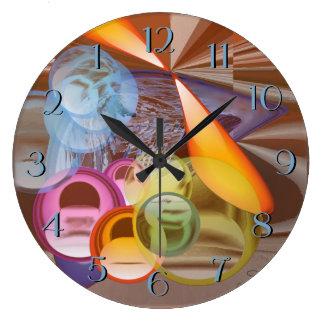Relógio Grande Algo que borbulha e que roda em cores naturais