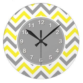 Relógio Grande Amarelo, teste padrão de ziguezague branco