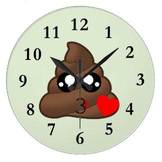 Relógio Grande Amor Emoji do coração do tombadilho