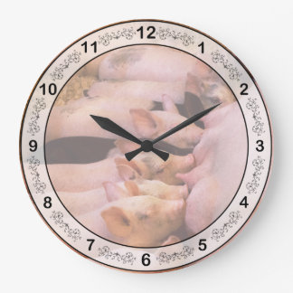 Relógio Grande Animal - porco - comida do conforto