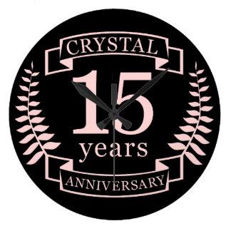 Relógio Grande Aniversário de casamento de cristal 15 anos