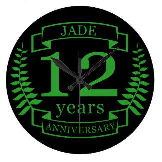 Relógio Grande Aniversário de casamento de pedra preciosa do jade