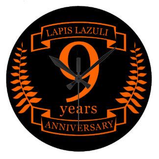 Relógio Grande Aniversário de casamento do Lazuli de Lapis 10