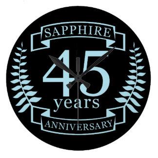Relógio Grande Aniversário de casamento tradicional da safira