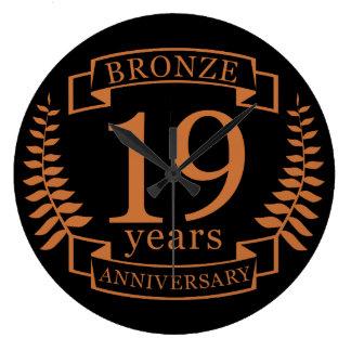 Relógio Grande Aniversário de casamento tradicional de bronze 19