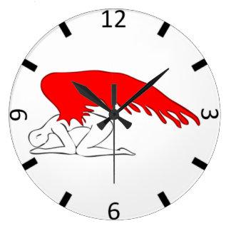 Relógio Grande Anjo pecador