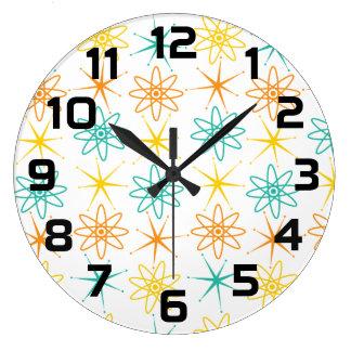 Relógio Grande Anos 50 astucioso - átomos e pulso de disparo das