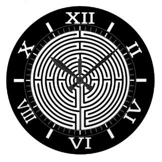 Relógio Grande Apenas um labirinto do seletor no seletor preto