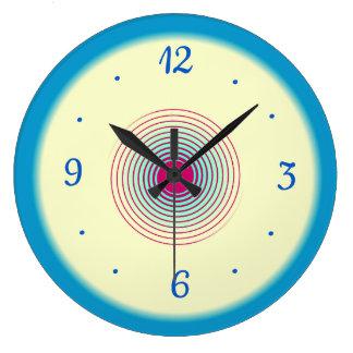 Relógio Grande Aqua azul de creme com ameixa > pulsos de disparo