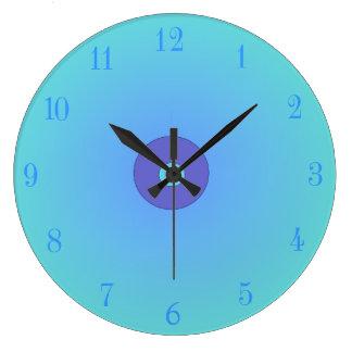 Relógio Grande Aqua/malva > pulsos de disparo lisos da cozinha