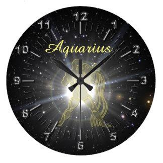 Relógio Grande Aquário brilhante