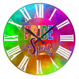 Relógio Grande Arco-íris do orgulho e do espírito com numerais