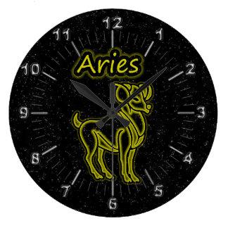 Relógio Grande Aries brilhante