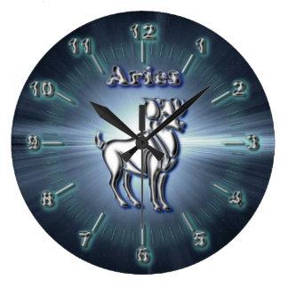 Relógio Grande Aries do cromo