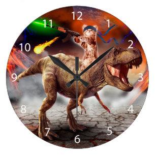 b19c3d41281 Relógio Grande Armageddon do gato - gato do dinossauro - gato mau