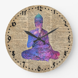 Relógio Grande Arte do dicionário do vintage de Buddha do espaço