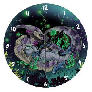 Relógio Grande Arte do dinossauro do Duckbill
