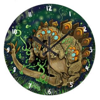 Relógio Grande Arte do dinossauro do Stegosaurus