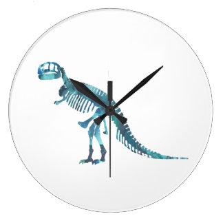 Relógio Grande Arte do esqueleto do rex do tiranossauro