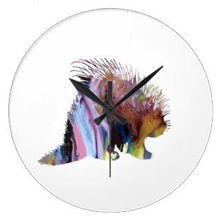Relógio Grande Arte do porco-