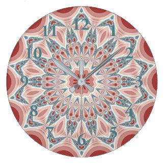 Relógio Grande Arte moderna impressionante do Fractal da mandala