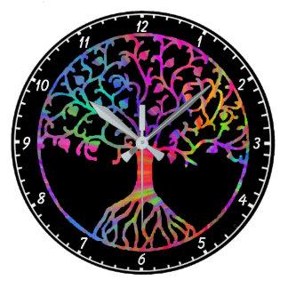 Relógio Grande Árvore de vida mágica