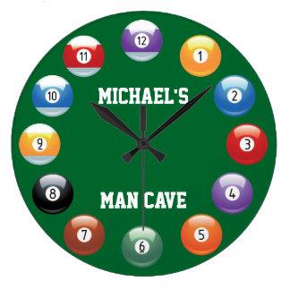 Relógio Grande As bolas de bilhar personalizaram o pulso de dispa